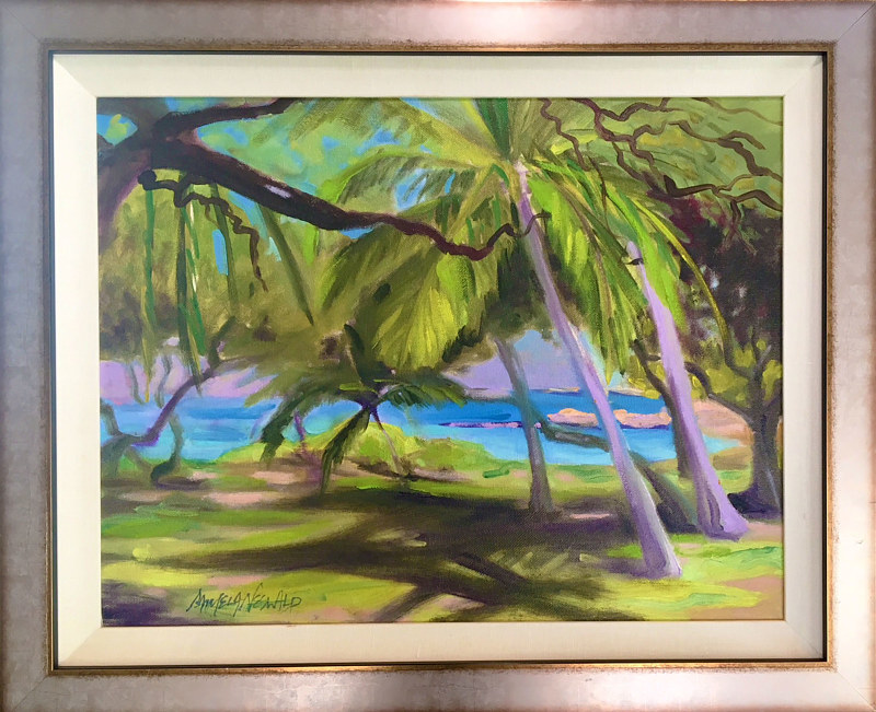 Oil painting Respite (Kamaole Beach II) by Pamela Neswald
