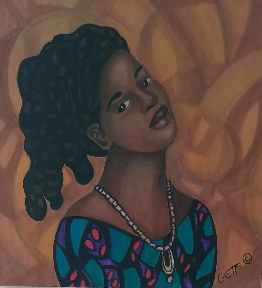 "Acrylic painting ''SIENNA #3"" by Georgette  Jones"