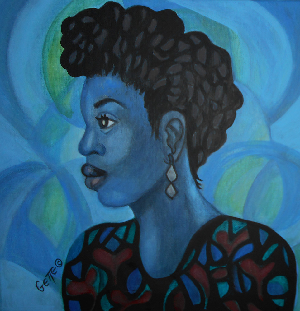 "Acrylic painting """"PORTRAIT OF CARMELLA"" by Georgette  Jones"