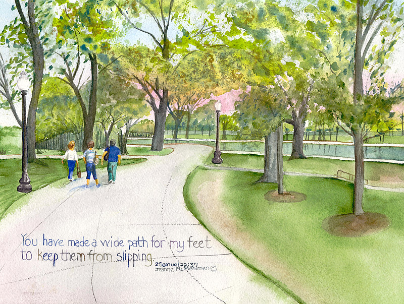 "Print ""Wide Path"" by Jeanne Mcmenimen"