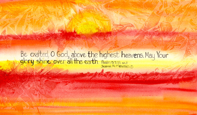 "Print ""Be Exalted"" by Jeanne Mcmenimen"