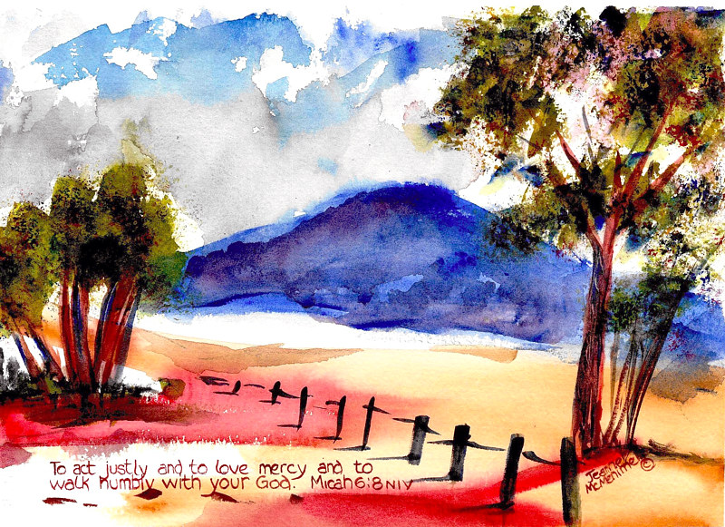"Print ""To Act Justly"" by Jeanne Mcmenimen"