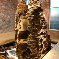 Interior Rock and Water Feature by Forest  Boone