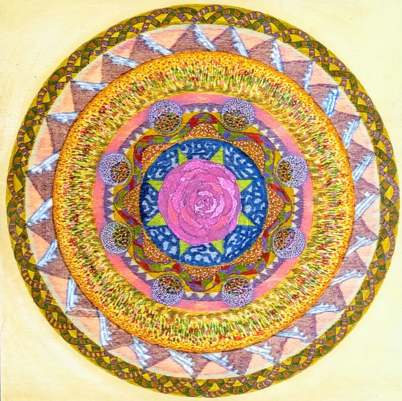 mandala for cheryl by John Clinock