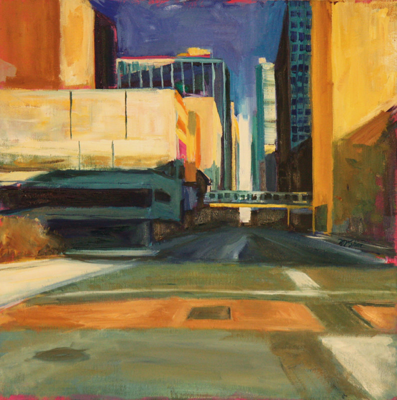 Oil painting mcc on van buren by Madeline Shea