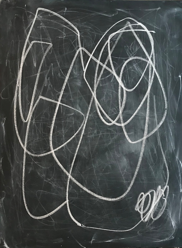 Acrylic painting Blackboard, II by Sarah Trundle
