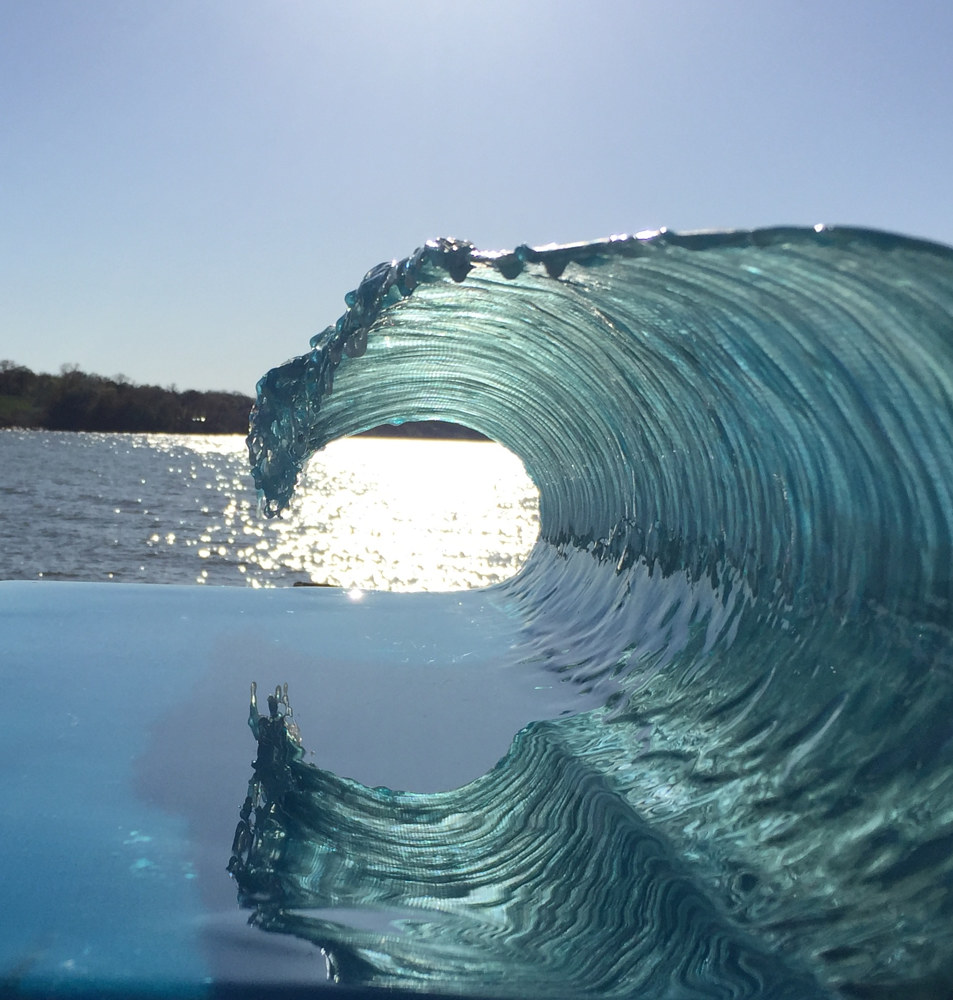 Mixed-media artwork Translucent Wave by Steven Simmons