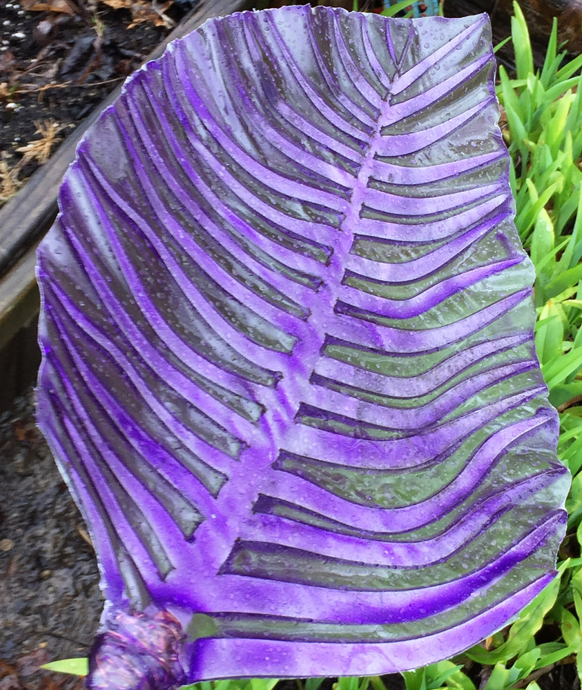 Steel and Glass Leaf (2d wave, purple) by Steven Simmons