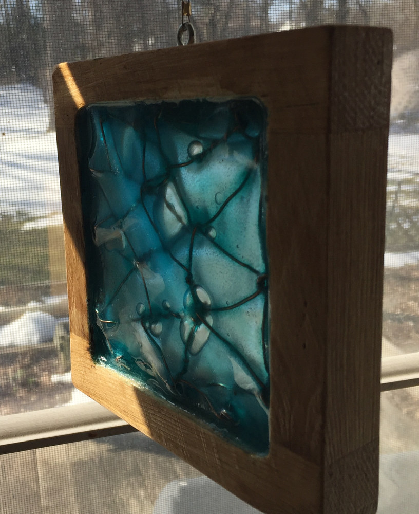 untitled glass and wood block (alt view) by Steven Simmons