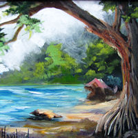 Oil painting Beach Cove by Barbara Haviland