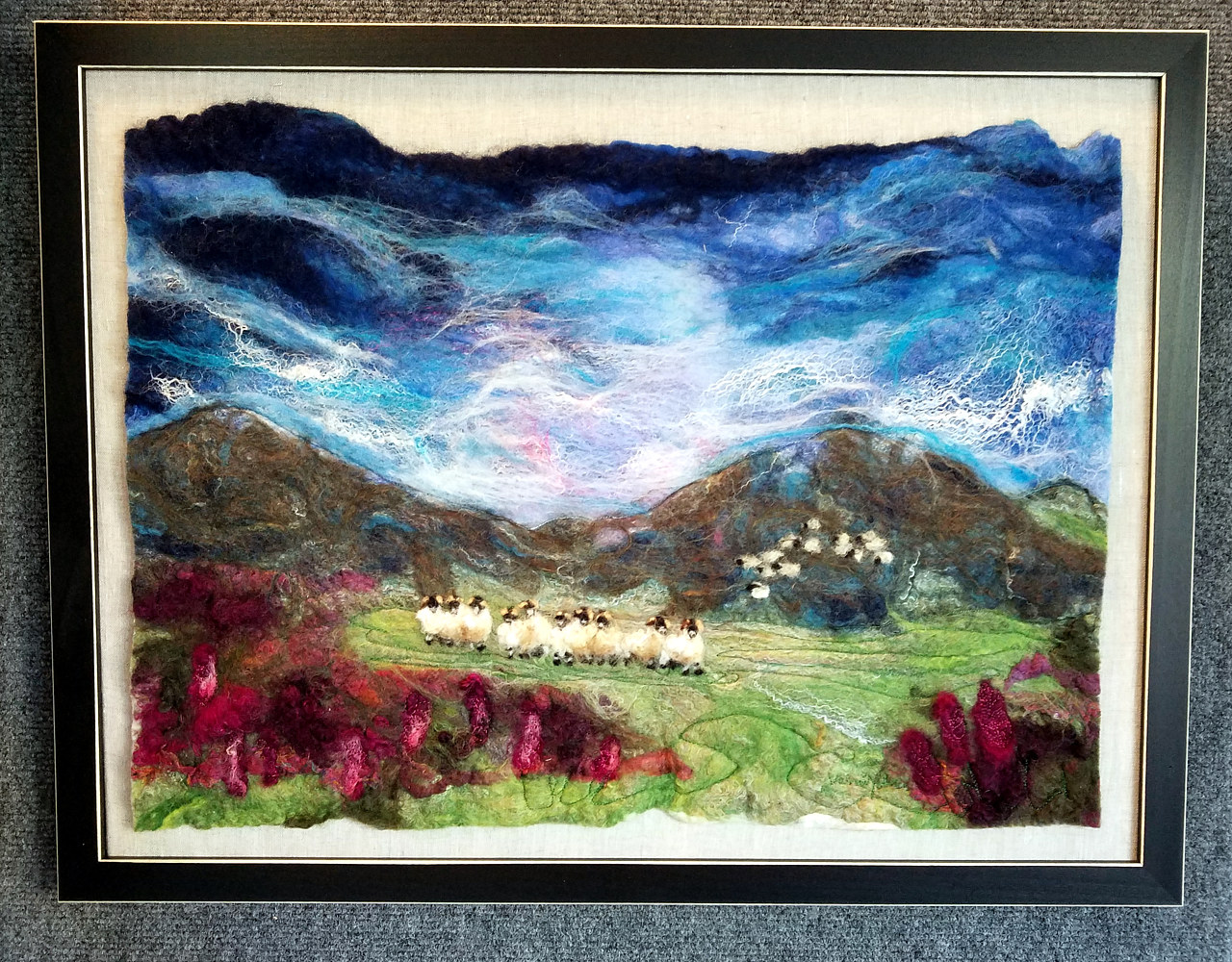 Sheep in the field  by Valerie Johnson