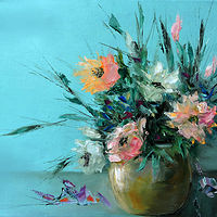 Oil painting Bouquet with a Mood. by Svetlana Barker