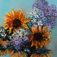Oil painting Bouquet for Tuesday. by Svetlana Barker