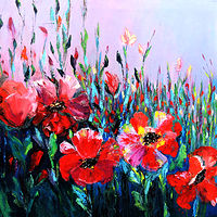 Oil painting Field of Poppies by Svetlana Barker