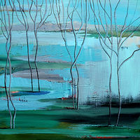 Acrylic painting Waiting for Spring by Svetlana Barker