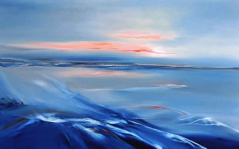 Oil painting North Waves by Svetlana Barker