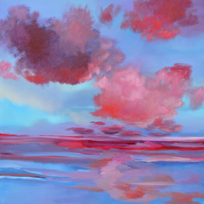 Oil painting Red Clouds by Svetlana Barker
