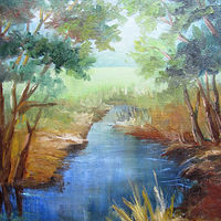 10x12 Jones Creek by Barbara Haviland