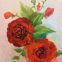 10x12 Roses Red 012 by Barbara Haviland