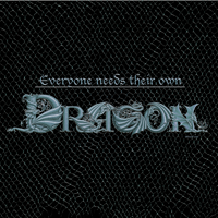 Print Everyone needs their own Dragon (silver) by Sue Ellen Brown
