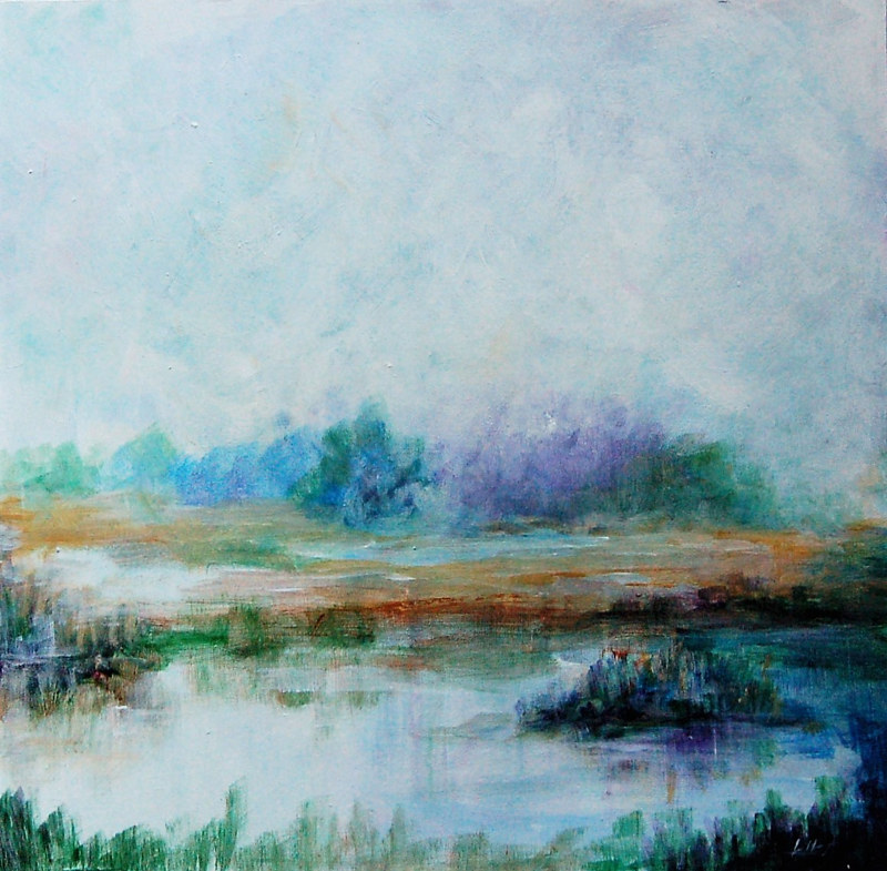 Acrylic painting WetLands I (Study) by Liba Labik