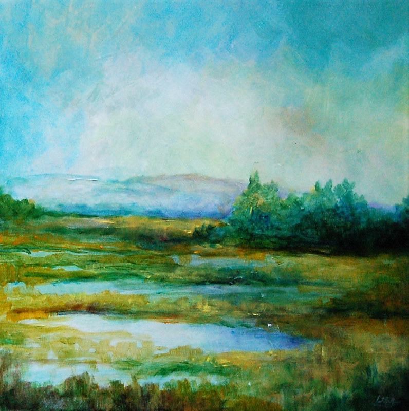 Acrylic painting Wetlands II (Study) by Liba Labik