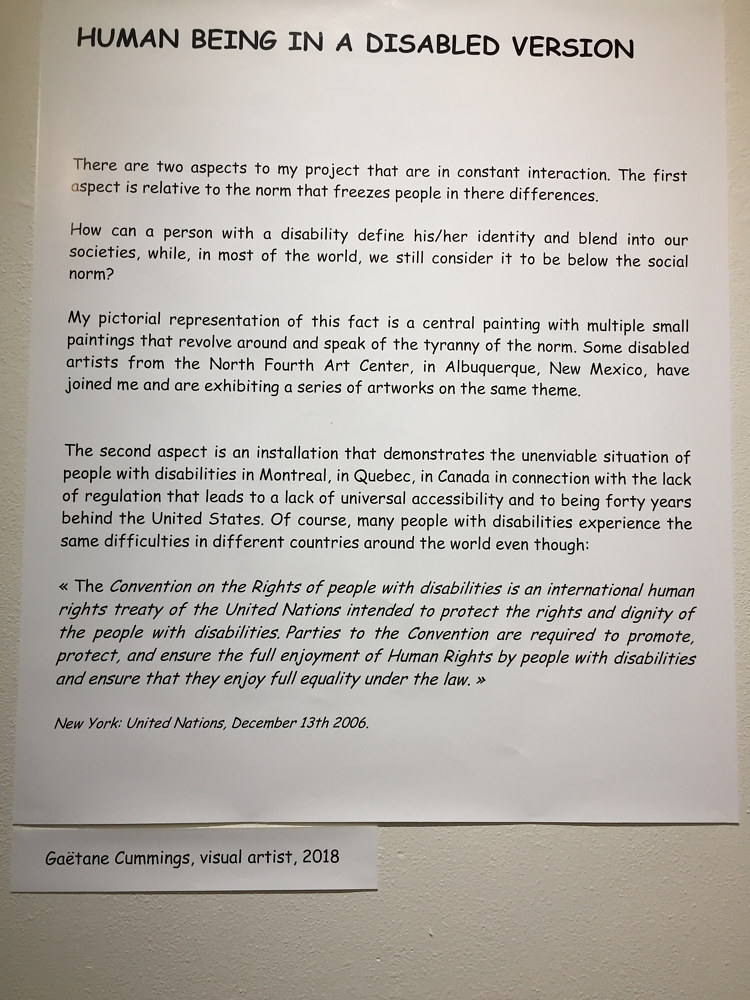 Texte de l'exposition, text of the exhibition, 展覧会のテキスト by Gaetane Cummings