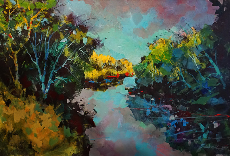 Up a Lazy River   Acrylic 24x36 x1.5 2018.JPGwww by Brian  Buckrell