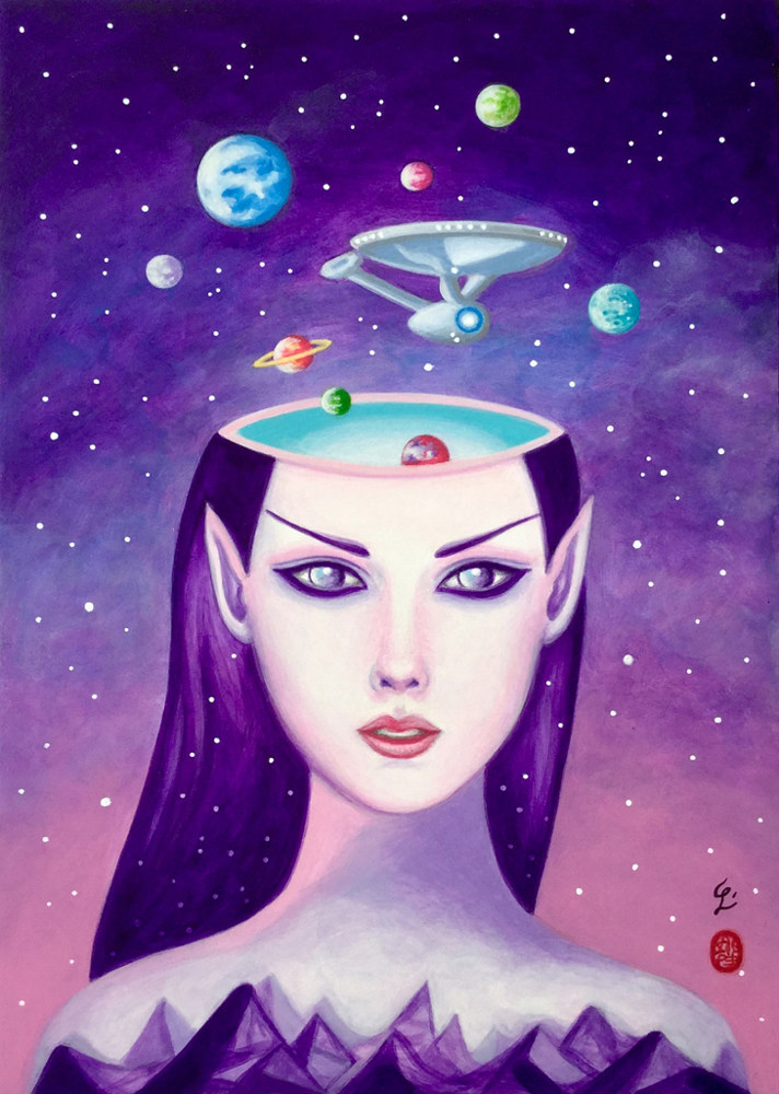 Acrylic painting Mind Meld by Carolina Seth