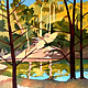 Oil painting Wollombi Creek  by Guntis Jansons