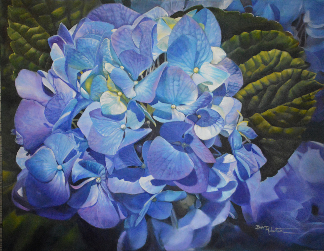 Cool Blue on a Warm Day 20186 by Bev Robertson