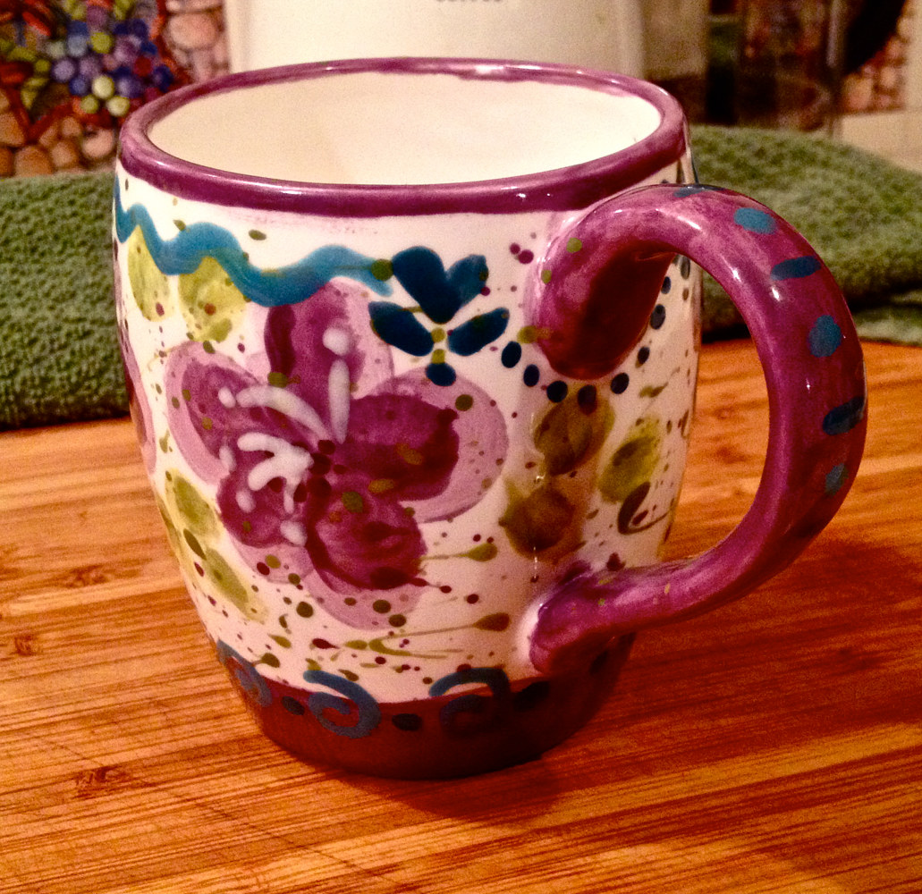 """Personalized Mug—Cathy"" (side) by Linnie (Victoria) Aikens Lindsay"