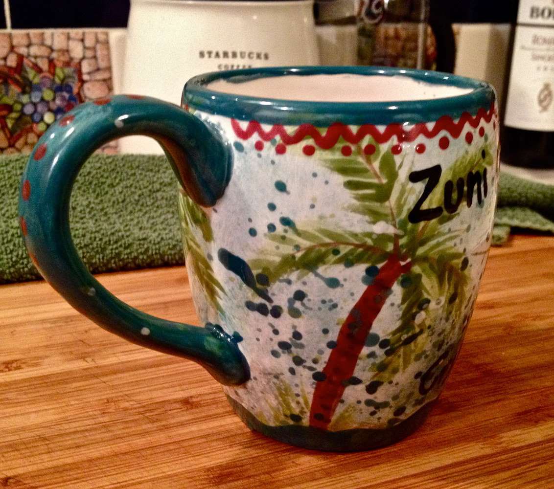 """Personalized Mug—Debbie"" (side) by Linnie (Victoria) Aikens Lindsay"
