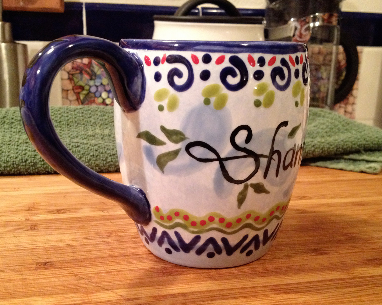 """Personalized Mug—Shannon"" (side) by Linnie (Victoria) Aikens Lindsay"