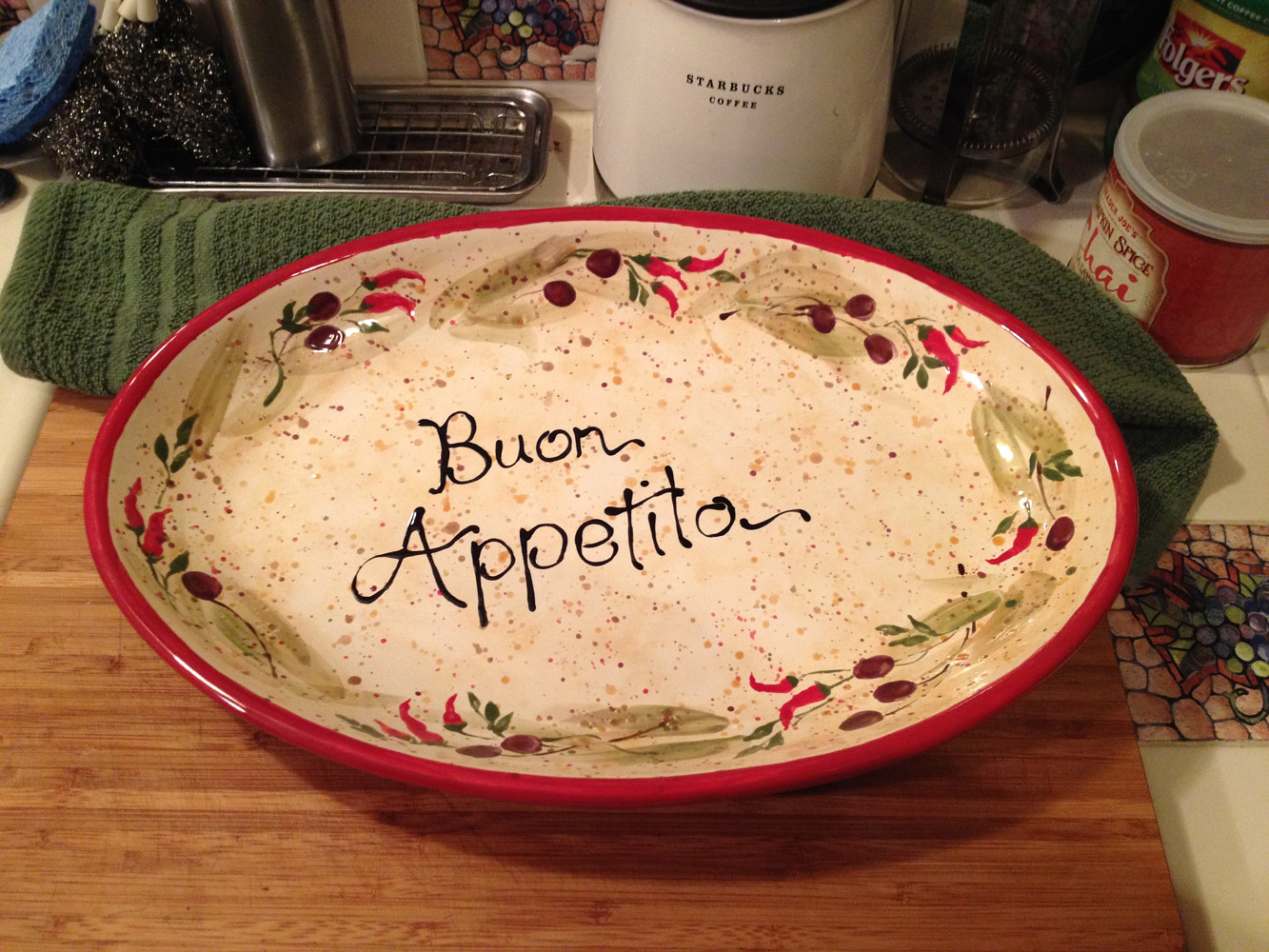 "ceramic ""New Mexican Buon Appetito Platter"" (top) by Victoria Avila"