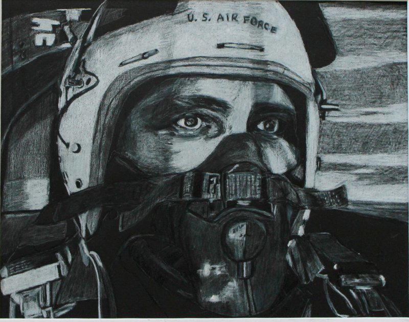 Drawing Pilot- Strategic Air Command  Pease AFB 1962 by Steve Latimer