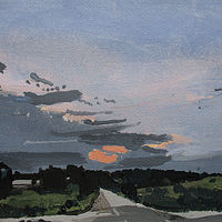 Acrylic painting Dusk, May End by Harry Stooshinoff