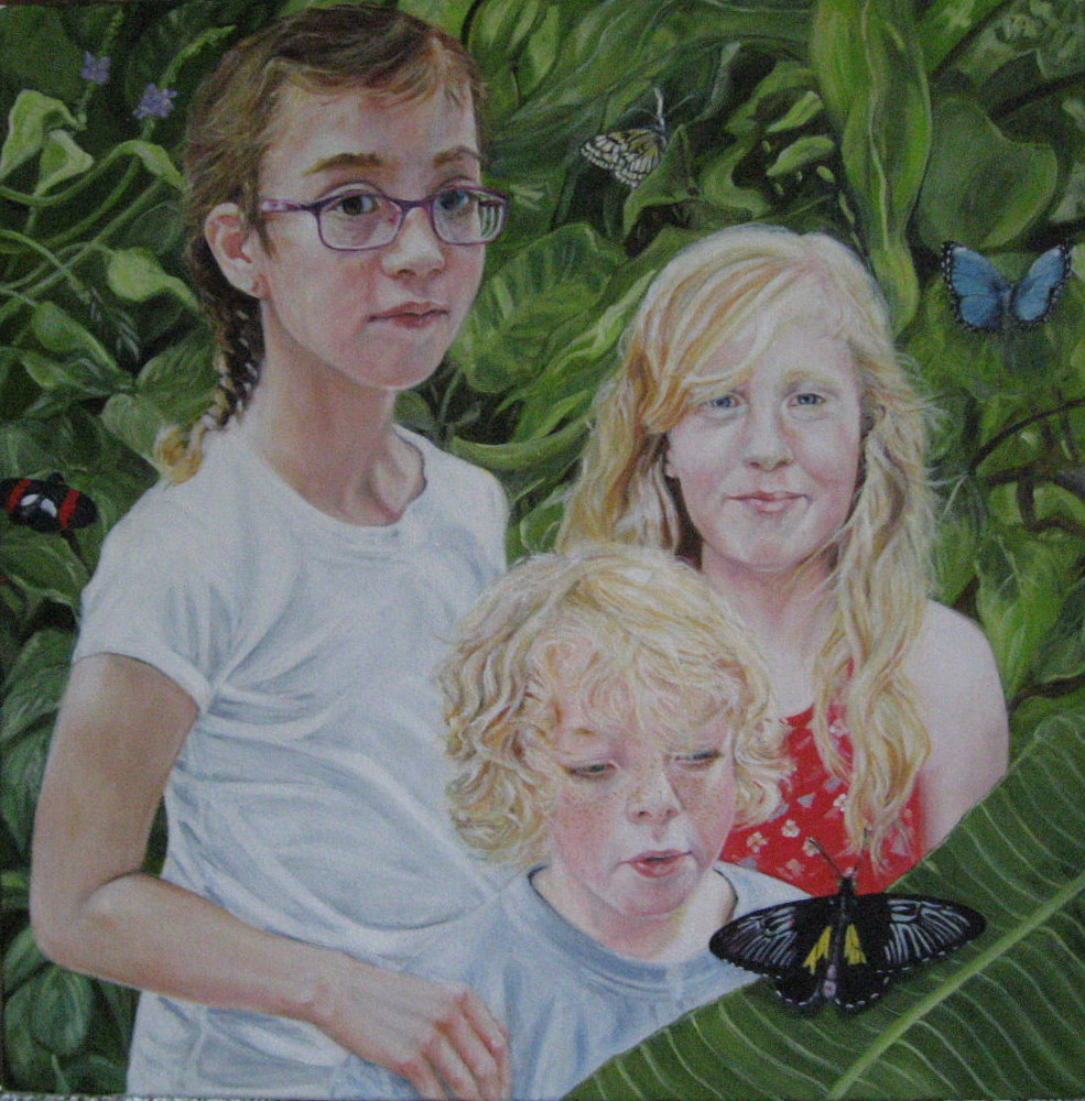 Oil painting Butterfly Conservatory by Judith  Elsasser