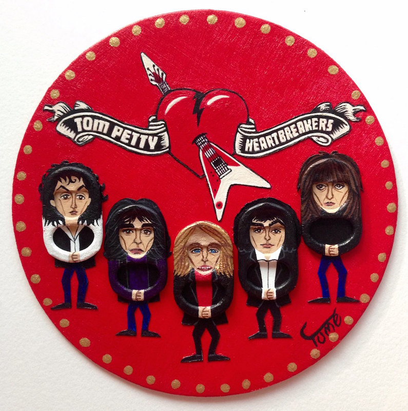 Acrylic painting Tom Petty and The Heartbreakers Coaster Art by Yumi Knight