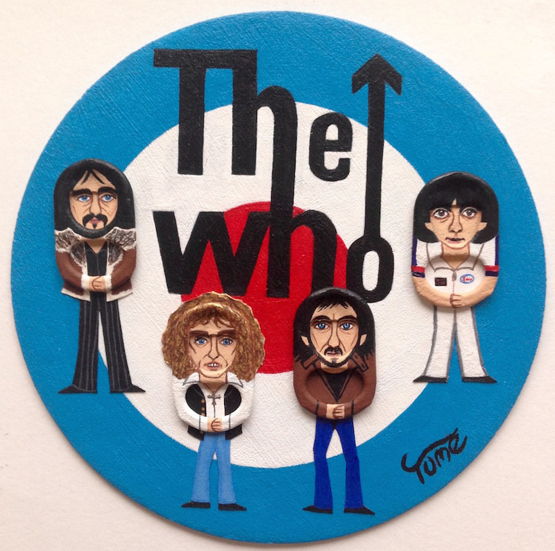 Acrylic painting The Who Coaster Art by Yumi Knight