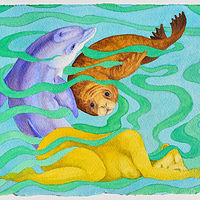 Watercolor Restorative Sleep  by Lisa  Baechtle