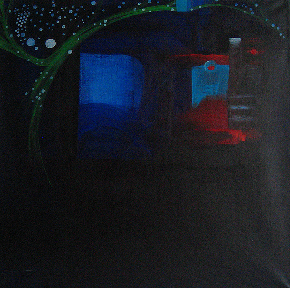 Acrylic painting The dark Dream | Le Rêve Noir by Nathalie Gribinski