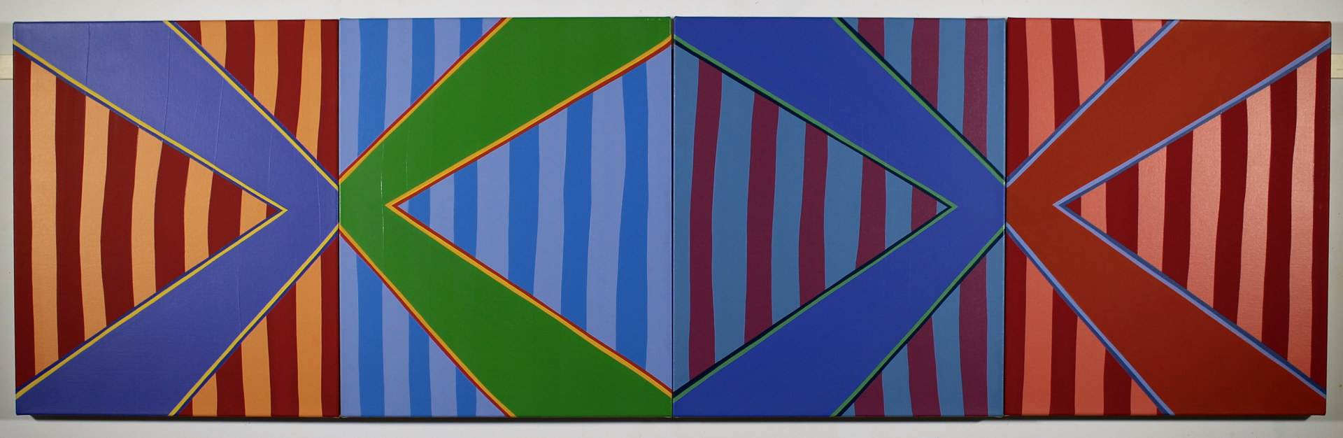 "Oil painting ""Stripe Set Quatrain"" 2015 by Christann Kennedy"