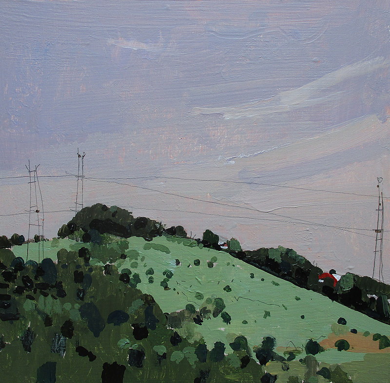 Acrylic painting RESERVED FOR ALEX K, Saturday Hill by Harry Stooshinoff
