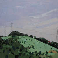 Acrylic painting Saturday Hill by Harry Stooshinoff