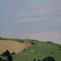 Acrylic painting Silo Hill  by Harry Stooshinoff