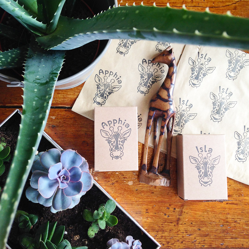 Giraffe stamps - another popular choice :-) by ROSE WILLIAMS