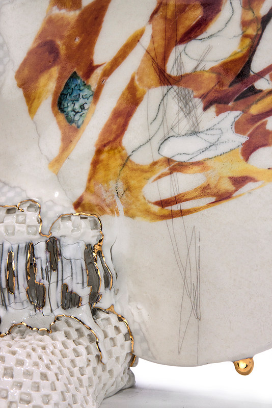 Mixed-media artwork Tangled Stopping (detail) by Darien Arikoski-johnson