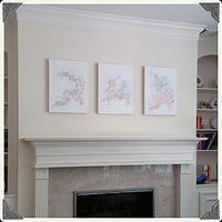 "Photography Collector Image - ""The Three Graces"" - Single-Line Drawing Triptych by John Hovig"
