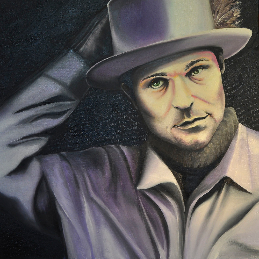 Oil painting Portrait of Gord by Meghan Sims
